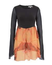 Stolen Girlfriends Club | Volcanic Orange and Charcoal Flared Doll Dress | Lyst