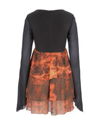 Stolen Girlfriends Club   Volcanic Orange and Charcoal Flared Doll Dress   Lyst
