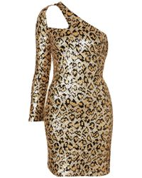 TOPSHOP | Metallic Leopard Sequin Strap Dress. | Lyst