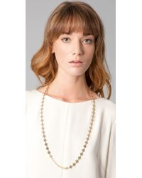 Tory Burch - Metallic Mini Clover Chain Necklace - Lyst