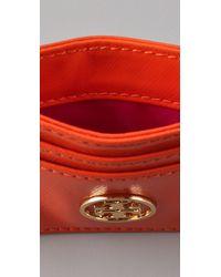Tory Burch - Orange Robinson Slim Card Case - Lyst