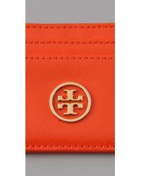 Tory Burch | Orange Robinson Slim Card Case | Lyst