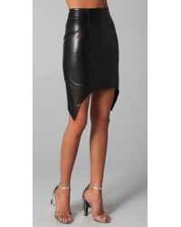 Cushnie et Ochs | Black Leather Skirt with Peaks | Lyst