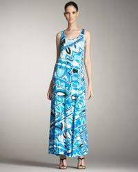 Emilio Pucci | Blue Tank Long Dress | Lyst