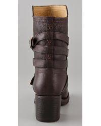 Frye - Brown Vera Strappy Boots - Lyst
