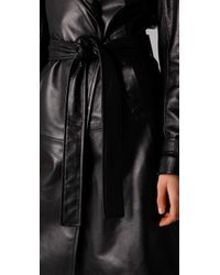 Kelly Bergin | Black Leather Trench Coat | Lyst