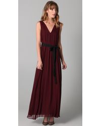 Twelfth Street Cynthia Vincent | Purple Floor Length Pleated Dress | Lyst