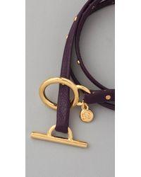 Gorjana - Metallic Graham Leather Studded Wrap Bracelet - Lyst