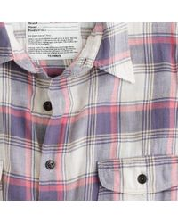 J.Crew | Purple Kato` / Aaa Flannel Check Shirt for Men | Lyst