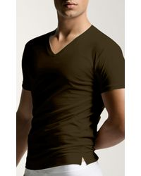 Adam lippes short sleeve vee t shirt in green for men for Adam lippes t shirt
