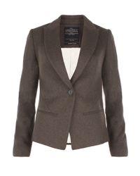 AllSaints | Brown Canonbury Jacket | Lyst