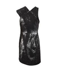 AllSaints - Black Velutina Dress - Lyst