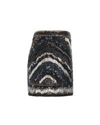 AllSaints | Black Erodes Skirt | Lyst