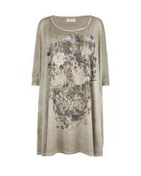 AllSaints | Brown Willow Skull Top | Lyst
