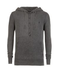 AllSaints | Gray Boundary Hoodie for Men | Lyst