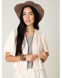 Free People | Pink Flutter Sleeve Bed Jacket | Lyst