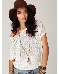Free People | White Fp New Romantics Windows On The World Top | Lyst