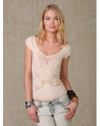 Free People | Natural Seamless Tupelo Honey Top | Lyst