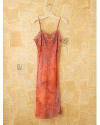 Free People | Red Vintage Tie Dye Slip Dress | Lyst