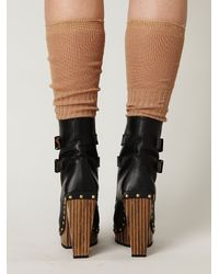 Free People - Black Conviction Wood Heel Boot - Lyst