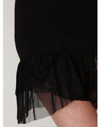 Free People - Black Corset Ruffle Bottom Slip - Lyst