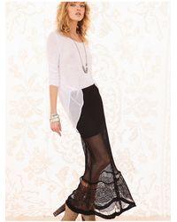 Free People | Black Fp Spun Fishtail Maxi Skirt | Lyst