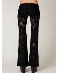 Free People - Black Lace Bell Bottom - Lyst