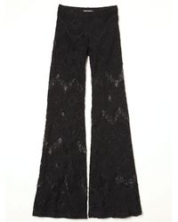 Free People | Black Lace Bell Bottom | Lyst