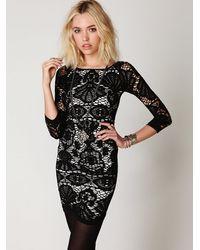 Free People | Black Jolene Mini Slip Dress | Lyst