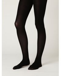 Free People | Black Opaque Tights | Lyst