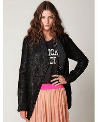 Free People | Black Rugged Vegan Leather Moto Jacket | Lyst