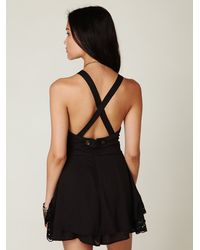 Free People - Black Summer Day Solid Romper - Lyst