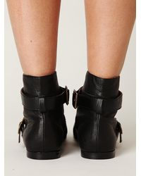 Free People - Black Val Lace Up Peep Toe Boot - Lyst