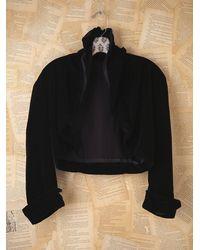 Free People | Vintage Black Silk Cropped Jacket | Lyst