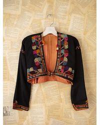 Free People | Black Vintage Embroidered Jacket | Lyst