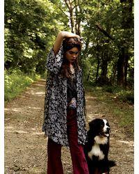 Free People | Black Storytellers Floral Robe | Lyst