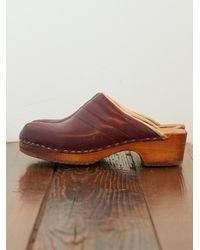 Free People | Brown Vintage Clogs | Lyst