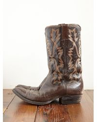 Free People - Brown Vintage Cowboy Boots - Lyst