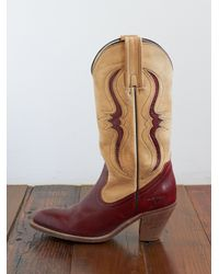 Free People | Brown Vintage Frye Cowboy Boots | Lyst