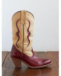 Free People - Brown Vintage Frye Cowboy Boots - Lyst