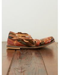 Free People | Brown Vintage Huarache Sandals | Lyst