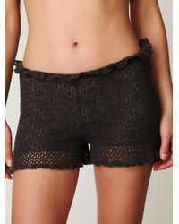 Free People - Gray Cashmere Shorts Set - Lyst