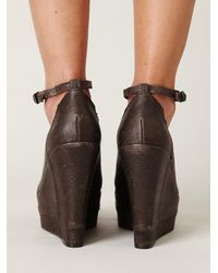 Free People - Brown Notizia Pieced Wedge - Lyst