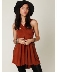 Free People | Red Crochet Halter Tunic | Lyst