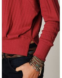 Free People - Red Long Sleeve Mod Pullover - Lyst