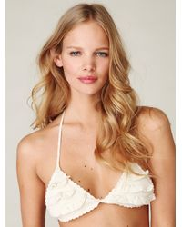 Free People | Natural Crochet Bikini Top | Lyst