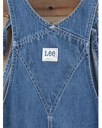 Free People | Blue Vintage Denim Overalls | Lyst