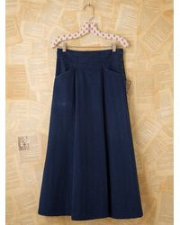 Free People | Blue Vintage Denim Skirt | Lyst