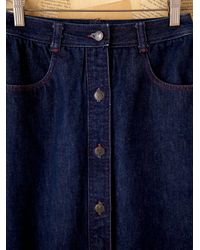 Free People - Blue Vintage Halston Denim Skirt - Lyst