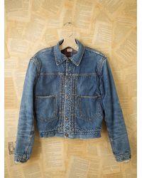 Free People | Blue Vintage Jean Jacket | Lyst
